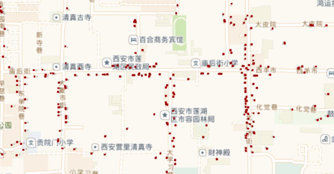 大数据探索西安美食——告诉你西安美食街在哪里
